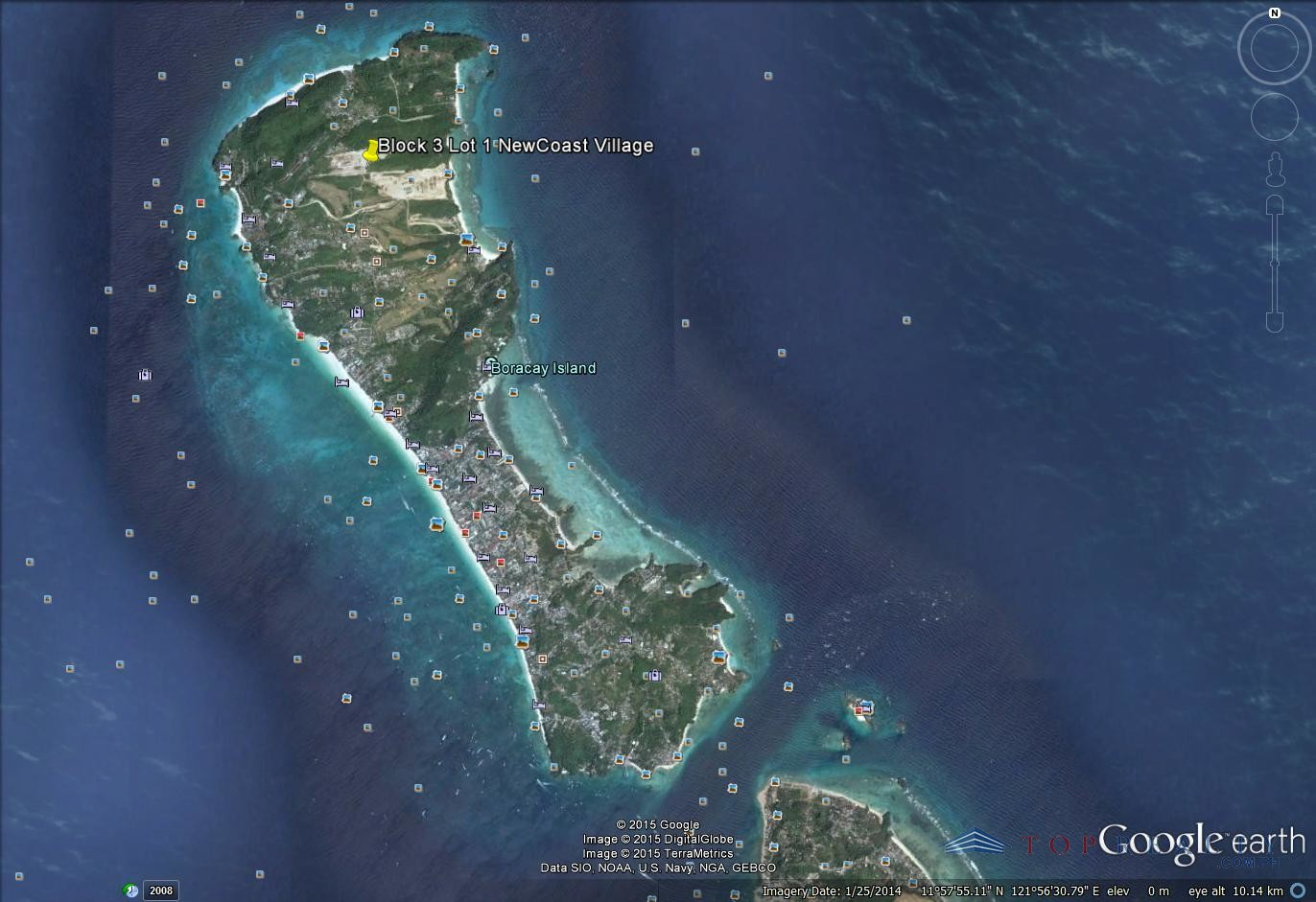 Top realty corporation perfect beachfront location hotel lot for google earth map gumiabroncs Image collections