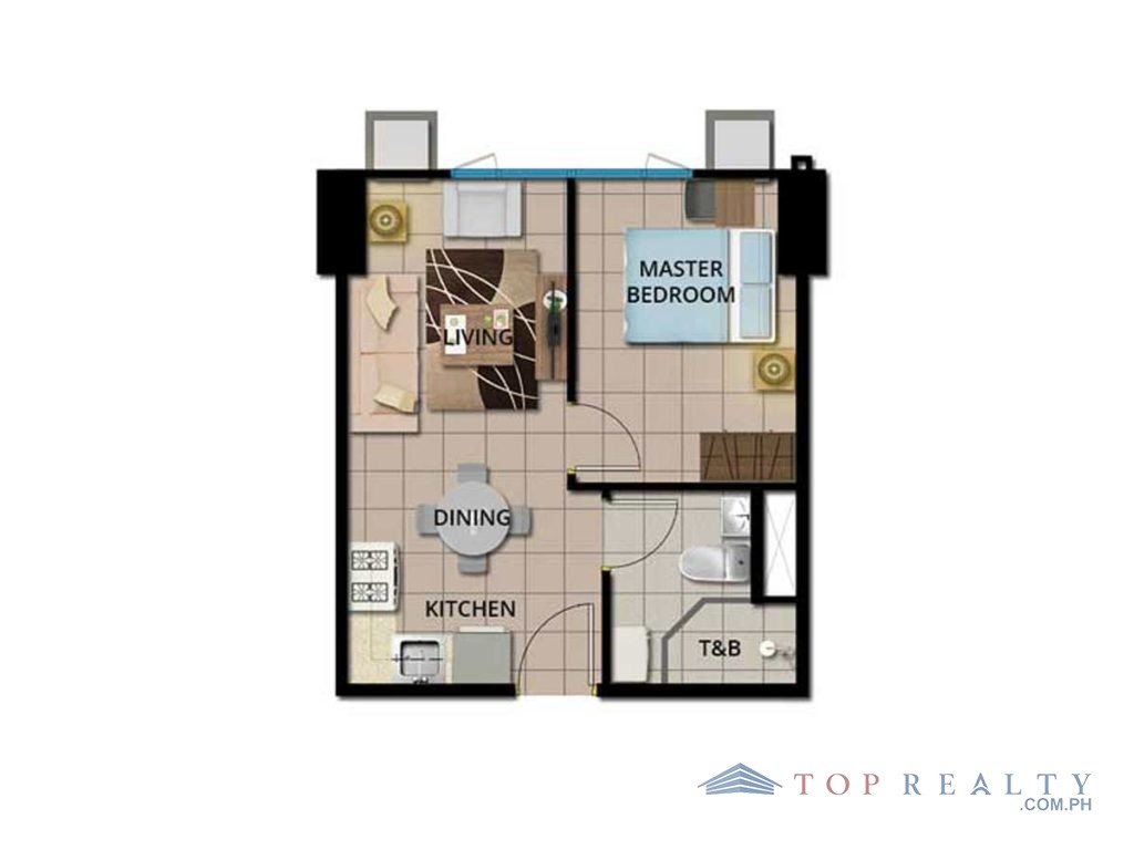 Top Realty Corporation Brand New One Bedroom Condo Unit